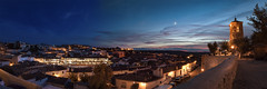 Panorama Chinchon at night (Renato Di Prinzio Fotografía) Tags: church churchbuilding citynight cityscape clouds cloudssky cloudyskies halfmoon holidays light lighthouse moon nightcity nightlife nightsky road spain spaintravel sunrise sunset sunsetcity sunsetlandscape towers town townhall travel village warm