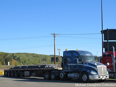 Leavitt's Freight Service Kenworth T680 Heavy Hauler, Truck# 488 (Michael Cereghino (Avsfan118)) Tags: leavitts freight service kenworth kw t680 t 680 4 axle quad heavy haul hauler flatbed truck trucking semi