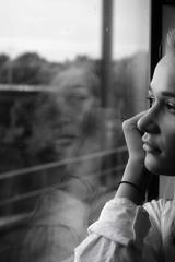 Train Dreaming (@phr_photo) Tags: train femme rêve dream woman girl visage reflet travel trip noiretblanc monochrome bw