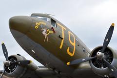 "Douglas C-49J ""Southern Cross"" (zfwaviation) Tags: kafw afw alliance fort worth texas air show vapor airshow jet airplane plane aircraft bell 2018 clouds c47 dc3 gooney dakota vfm vintage flying museum n87745 wwii"