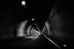 Tunnel vision (iamunclefester) Tags: vacation holiday croatia krk otokkrk highway street freeway autobahn motorway car tunnel vision dark lights lamps road marking roadmarking vanishing point vanishingpoint