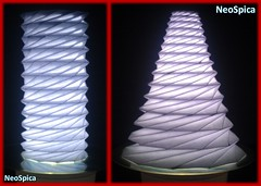 Conical Cylinder Origami Collapsible In Levels Based On Dodecagon (1/5) (NeoSpica / NeoLiveArt) Tags: origami paper fold folding folded conical lampshade pleating pleat pleated corrugation tessellations collapsible structure design cone papercraft handmade cylinder dodecagon levels tube geometric art