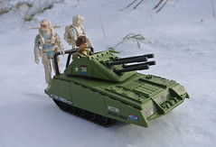 Armidillo driven by Foot Loose and Action Force Snow Patrol troopers (Sentinel 3001) Tags: action force figure gi joe toy outdoor snow