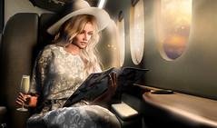 Somewhere ower the world (meriluu17) Tags: foxcity glamaffair sintiklia belleepoque fly plane airoplane flying champange hat blonde people portrait luxury