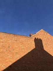 Shadow friends (gingerbudbomb) Tags: cityscape bluesky bricks propertyovershadowed housepricerise leicester oadby shadowsoflife shadow urbanviews