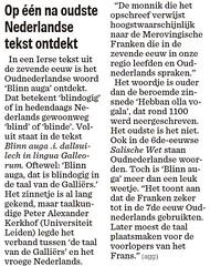 Op één na oudste Nederlandse tekst ontdekt (flemishgael) Tags: op één na oudste nederlandse tekst ontdekt