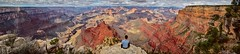 Explore. Dream. Discover. (g-liu) Tags: darktable gimp hugin panorama mosaic wideangle 2018 october canyon grandcanyon grandcanyonnationalpark color orange deep contrast human single alone sitting dream desert outdoor wild nature trees view scenic vista sony a6500 大峡谷 usa america 风景 landscape nationalpark 美国 travel national