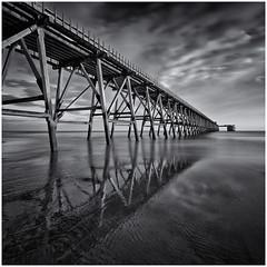 Steetley Pier Hartlpool (Antony Ward) Tags: steetleypier abandoned derelict longexposure mono blackandwhite hartlepool coast sea tenstopfilter