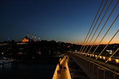 people on the bridge I (yasin.orhan) Tags: people bridge sunset geometry