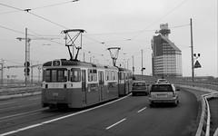 Göta älvbron, Göteborg, 2018 (biketommy999) Tags: göteborg sverige sweden biketommy biketommy999 2018 svartvitt blackandwhite hisingen spårvagn tram västtrafik götaälvbron bro bridge