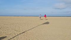 Herbstlicht / Autumnal light # 1 (schreibtnix on 'n off) Tags: reisen travelling frankreich france normandie deauville strand beach schatten shadow herbstlicht autumnallight olympuse5 schreibtnix