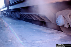 3756 unloading mineral sands Narngulu 4 June 1983 (RailWA) Tags: railwa philmelling westrail 1983 mineral sands narngulu