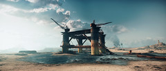 Mad Max (screenreel) Tags: madmax postapocalypse road landscape sky soil desert clouds day light bright building horizon tower survivors car vehicle atmosphere graphics photo screenshot camera angle blur colorfull destroyed abandoned rock videogame digital pc sunset mountain oil gas