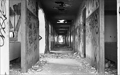 181111_Psiquiatrico_004 (Stefano Sbaccanti) Tags: bw blackandwhite analogicait analogue argentique bianconero leicam5 kentmere400 psiquiatrico asylum urbex urbanexploration abandonado 2018 50summicron spain