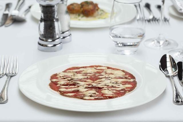Carmen: Beef carpaccio, Cipriani dressing