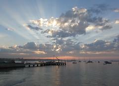 frühmorgens am meer (lualba) Tags: meer sea wasser water clouds wolken sky himmel sonnenaufgang sunrise portugal