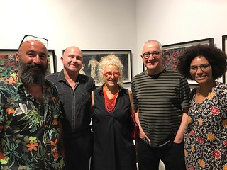 Guy Zagursky, Cesar Trasovares, Tami Katz-Freiman,Mooli Freiman, Shatha Aldeghady at LnS Gallery for Trasobares' opening show