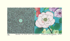Rose and Japanese morning glory (Japanese Flower and Bird Art) Tags: flower rose rosa rosaceae morning glory ipomoea nil convolvulaceae susumu sakaguchi modern lithograph print japan japanese art readercollection