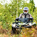 ATV driver in early autumn