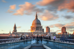 Sunset at St Paul's (Rich Walker75) Tags: cathedral sunset london landscape landscapes landscapephotography landmark landmarks bridge city cityscape england canon eos80d eos cloud clouds longexposure longexposures longexposurephotography outdoor
