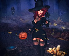 LOTD 021 (The Essence Of Fashion) Tags: catwa glamaffair maitreya pout magika conviction dirtyprincess eudora3d fashiowl astralia littlebranch salem secondlife blog fashion pose backdrop 3d virtual halloween witch spooky