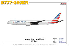 Boeing B777-300ER - American Airlines (The Art of Flying) Tags: aircraft airliner airplane boeing b777300er b773er b777 tripleseven aviation aviationenthusiast artprint theartofflying planes widebody illustration aal americanairlines
