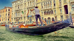 Only one place in the World ! (WolfBlass1) Tags: venice veneto italy grandcanal buildings gondola gondolier nikon d5300 nikkor 1685dxvr flickr outfit holidays abroad