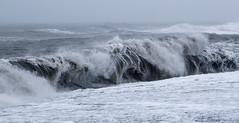 Deadly edge (OzzRod (catching up)) Tags: pentax k1 hdpentaxdfa2470mmf28 coast shoreline beach blacksand basalt waves breakers plunging reynisfjarabeach iceland