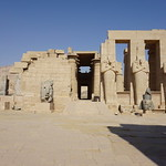 The Osorid Statues, the Ramesseum is the memorial temple of Pharaoh Ramesses II, West Bank, Luxor, Egypt. thumbnail