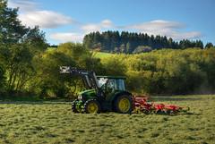 Hay-making, Shropshire (Baz Richardson (now away until 26 Oct)) Tags: shropshire farmland tractors haymaking farms fields