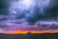 sunset 7841 (junjiaoyama) Tags: japan sunset sky light cloud weather landscape purple blue orange yellow red contrast color bright lake island water nature autumn fall