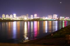 Lancang River (zhirenchen) Tags: asia china yunnan xishuangbanna xishuang banna jinghong gaozhuang lancang mekong night light panasonic zs110 zs100 tz110 tz100