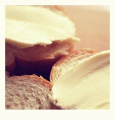 """Macro Mondays - """"B""""utter with bread (vegeta25) Tags: macro makró konyha kitchen bread butter vaj margarin kenyér macromondays macromonday"""