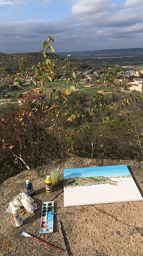 painting in the bluffs