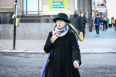 A Little Blue (Explore) (Cycling-Road-Hog) Tags: candid canoneos750d citylife colour fashion glasgow hat people places sauchiehallstreet scarf scotland sigma1750mmf28 street streetphotography streetportrait style urban woman