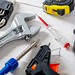 Men's tools to work and repair around the house