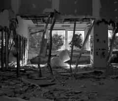 C 7 (andi_heuser) Tags: urban exploration lostplaces gebäude building fabrik factory architektur architecture verlassen abandoned alt old zerstört destroyed film analog analogue schwarzweiss blackwhite schwarzweissfilm ilford ilforddelta3200 6x7 120 andiheuser