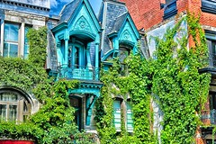 Square Saint-Louis (stephaneblaisphoto) Tags: architectural column architecture building exterior built structure city day entrance green color growth house ivy low angle view nature no people old outdoors plant residential district tree window montreal canada