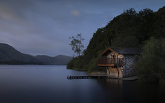 The Duke's boathouse (Brad@Shaw) Tags: canon canonef24105mmf4lisusm 5dmkiv 5d4 5div longexposure le clouds water waterfront waterside ullswater cumbria lake thelakedistrict thelakes architecture blue bluesky trees green tranquil smooth dukeofportlandboathouse pooleybridge landscape