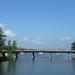 Jezioro Tałty i most drogowy w Mikołajkach