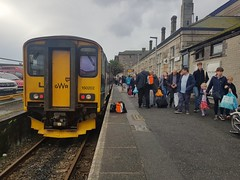 150202 at Penzance having arrived with 2C43, the 0642 from Bristol Temple Meads. (Conner Nolan) Tags: 150202 class150 gwr greatwesternrailway penzance