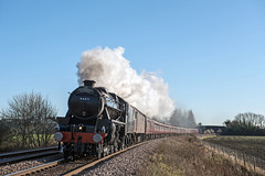 LMS Class 5 No 44871 (Simon Lathlane) Tags: lms class black 5 44871 steam cathedrals express london kings cross lincoln christmas market sunday 9th december 2018 donington foot crossing