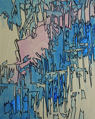Drippin' 2018 (cailin.rawlins) Tags: ink lines geometric linear shapes abstract modern minimalist art artwork painting drawing pen marker pastel light blue peach pink yellow outline outlines for home decor design interior bedroom bathroom study office kitchen canvas stretched dripping drippin 2018 cailin rawlins energy flow fluid beautiful soft expressionism expressionist style contemporary chic classy stylish trendy