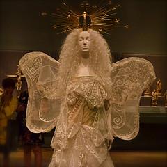 Messenger (MPnormaleye) Tags: bridal dress angelic angel halo holy sacred heavenly utata 24mm museum exhibit costume mannequin