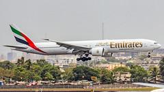Emirates Boeing B777-300(ER) A6-ENE Mumbai (VABB/BOM) (Aiel) Tags: emirates boeing b777 b777300er a6ene mumbai canon60d tamron70300vc