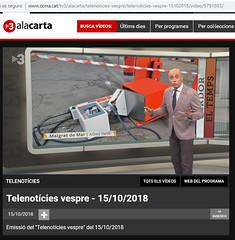 TV3_TN_VESPRE_15-10-2018 (Alfred Farré) Tags: fotoalfredfarre tv3 tn