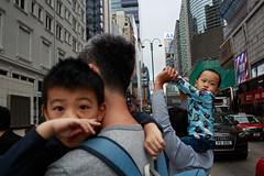 Hong Kong (jaumescar) Tags: street hongkong kowloon kids family parent father brothers eyes asian city urban children caring holding gesture