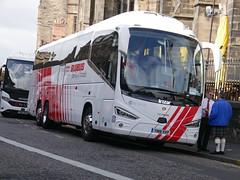 City Circle of Newbridge Scania K410EB6 Irizar i6S YN18SVP 96, in Globus Tours livery, at Castle Terrace, Edinburgh, on 13 September 2018. (Robin Dickson 1) Tags: citycircle busesedinburgh yn18svp scaniak410eb6 irizari6s globustours