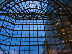 Gateway (MPnormaleye) Tags: manhattan newyork nyc utata night evening skyscrapers skyline atrium design patterns portal