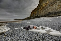 Sleep alone (pauldunn52) Tags: beach paul traeth mawr cliffs glamorgan heritage coast wales sleep alone